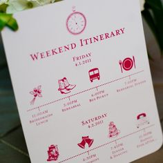 cute itinerary idea!