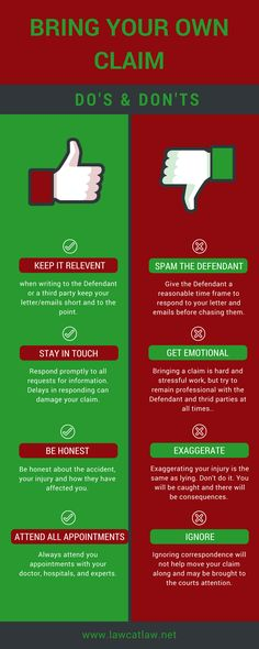5 do's and dont's when your about to bring your own claim. Find out more at www.lawcatlaw.net Bring It On, Lettering, Socialism, Social Networks, Calligraphy, Letters, Character