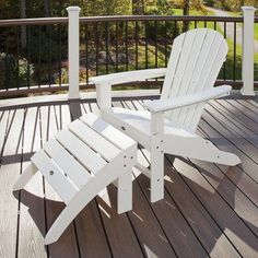 Trex Trex Outdoor Cape Cod Adirondack Chair and Footstool Set