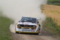 Audi Quattro rally car - Group B Audi Sport, Rally Car, Car And Driver, Car Manufacturers, Audi Quattro, Cars And Motorcycles, Cool Cars, Porsche, Classic Cars