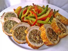 Gombás göngyölt sertéskaraj Easy Chicken Recipes, Pork Recipes, Cake Recipes, Healthy Recipes, Pork Dishes, Nutella, Dinner Recipes, Food And Drink, Favorite Recipes
