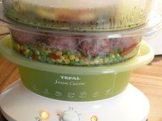 Mäsové guľky so zeleninou a cestovinami - parný hrniec (fotorecept) Cotton Candy, Meat, Cotton Candy Favors, Floss Sugar