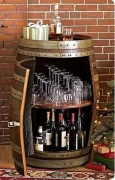 This is a beautiful rustic way to hold and showcase all your barware pieces. There are 3 style options to choose from, interior shelf, interior bottle holder, or interior rack. Standard Size: 36h x 22l If you would like this design to be created in a custom color or size please send