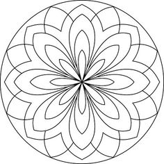 mandala omalovánka - Hledat Googlem Mandala Coloring Pages, Colouring Pages, Adult Coloring Pages, Coloring Sheets, Coloring Books, Mandala Pattern, Zentangle Patterns, Mosaic Patterns, Embroidery Patterns