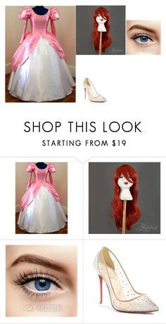 """""""Ariel Cosplay #1"""" by themusicgeek32 on Polyvore featuring Christian Louboutin"""