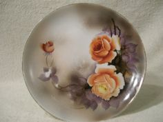 Noritake Fine china Plate Orange roses by RoseThrones on Etsy, $2.99