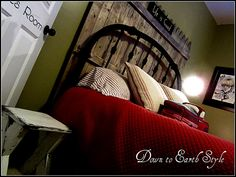 fence panel and pallet inspired boy's bedroom by Down To Earth Style