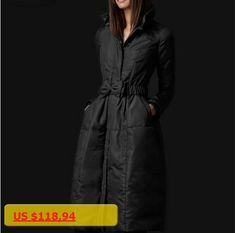 High Quality European Fashion Designer 2016 Parkas For Women Winter White Duck Down Parka Long Jacket Coat with Bowknot Belt #Down&Parkas