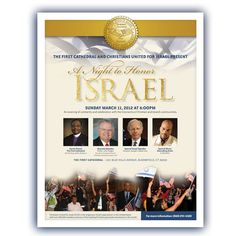 CUFI A Night to Honor Israel - Flyer