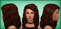 "aharris00britney: "" CHARLI HAIR -16 EA COLORS -Custom Thumbnails -Base Game Compatible -Hat Compatible -Recolors Allowed(Don't include the mesh please) -I recolored them both in @dustflwr's Anathema..."