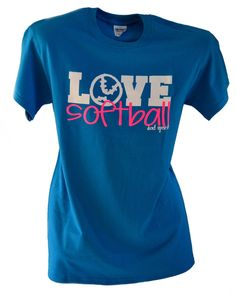LOVE SOFTBALL Short Sleeve T-Shirt