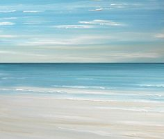 Beach seascape painting print - Ocean beach fineart print by Francine Bradette-FREE S $40.00, via Etsy.