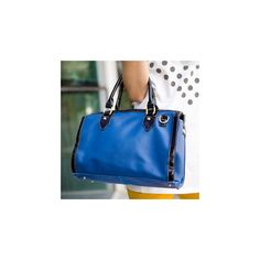 Contrast-Trim Satchel ($35) ❤ liked on Polyvore