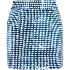 Ashish Sequined silk-georgette mini skirt ($546) ❤ liked on Polyvore featuring skirts, mini skirts, bottoms, blue, bright blue, sequin mini skirt, mini skirt, blue sequin skirt, blue sequin mini skirt and short sequin skirt