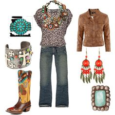 Native Cowgirl, created by marisa-rae-julian on Polyvore