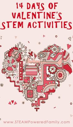 Countdown to Valentine's Day with our 14 Days of Valentine's STEM Activities for elementary aged children.