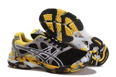 sale retailer 7d399 61661 New Asics Gel Noosa Tri 7 Mens Black Yellow Grey White Sports Shoes Store