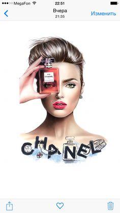Chanel N5 Graphisches Design, Salon Design, Fashion Images, Fashion Art, Girly Dp, Chanel Poster, Chanel Perfume, Marken Logo, Face Sketch