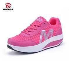 online store 23565 999d6 ALDOMOUR Calçados De Fitness das Mulheres do Esporte para As Mulheres  plataforma de Cunhas Swing zapatos