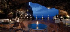 Italian food, the sea crashing nearby, and an amazingly unique place--what more could you want??!! Wow!!