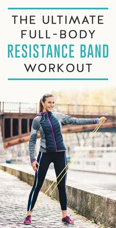 Using resistance bands are a great, easy workout for your entire body. Unlike weight machines or free weights, resistance bands provide tension through the entire movement and stimulate the recruitment of more muscle fibers. This workout will get your shoulders, legs, core and arms sweating.