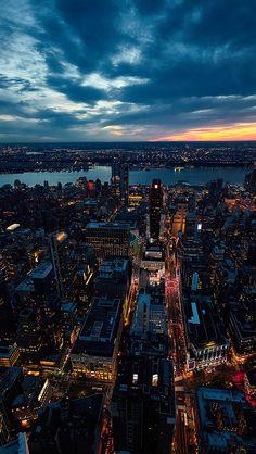 freeios8.com - ne52-city-view-sunset-river-sky-cloud-nature - http://bit.ly/28NEpqT - iPhone, iPad, iOS8, Parallax wallpapers