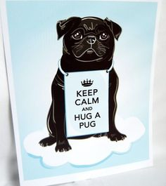 Keep Calm and Hug a Pug~ Looks just like our Wally <3 by alyssa