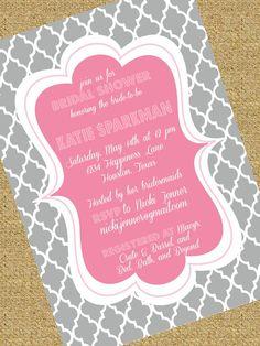 Quatrefoil Bridal Shower Invitation by SouthernSwish on Etsy