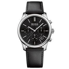 b412e96da23 Relógio Hugo Boss Masculino Couro Preto - 1513430
