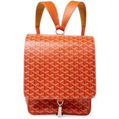 Designer Clothes, Shoes & Bags for Women Goyard Bag, Red Backpack, Lv Handbags, Luxury Handbags, Louis Vuitton Handbags, Vintage Leather Backpack, Orange Backpacks, Real Leather, Bags