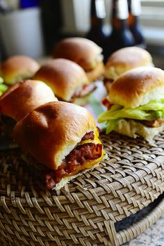 Grilled Chicken Bacon Sliders by The Pioneer Woman     tummy is turning reading all the choices....when I do bbq (with baby ray's sauce of course) gonna put 'em on hawaiian buns mmmmmm