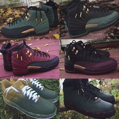the latest 5c371 a6ce9 Custom Jordans, Black Nikes, Types Of Shoes, Green And Gold, Custom Shoes