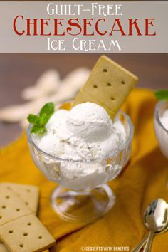 Super decadent, rich and creamy Healthy Cheesecake Ice Cream! So good, you'd never know it's sugar-free, low-carb and high-protein. Oh, and it's only 6 ingredients!
