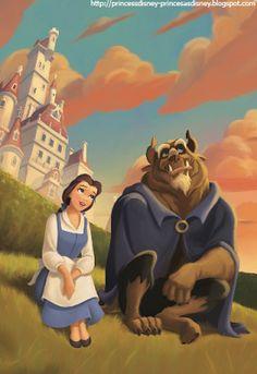 Princesas Disney: Preciosas Imágenes de La Bella y La Bestia