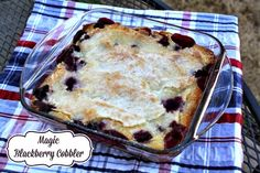 Mommy's Kitchen - Recipes From my Texas Kitchen!: Magic Peach Cobbler + {Blackberry Version Included}