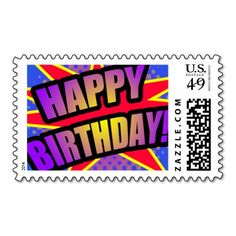 """==>Discount          Comic Style """"HAPPY BIRTHDAY"""" postage stamps           Comic Style """"HAPPY BIRTHDAY"""" postage stamps today price drop and special promotion. Get The best buyDiscount Deals          Comic Style """"HAPPY BIRTHDAY"""" postage stamps today easy to Shop...Cleck Hot Deals >>> http://www.zazzle.com/comic_style_happy_birthday_postage_stamps-172444795414532721?rf=238627982471231924&zbar=1&tc=terrest"""