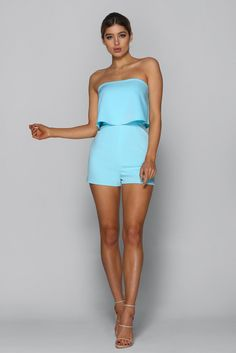 abd91abf70 Lily   Minx Fashion Inspiration · Hot Summer Playsuit in BABY BLUE Fashion  Design