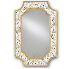 Currey and Company 1090 Margate Tall Rectangular Wall Hung Mirror Gold Leaf Home Decor Mirrors Lighting Oyster Shell Mirror, Oyster Shell, Rectangular Mirror, Accent Mirrors, Rectangle Mirror, Coastal Cottage, Wrought Iron Mirror, Contemporary, Hanging Mirror