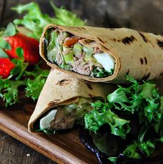 Have lunch ready in a flash with this recipe for Tuna Salad Wraps Ingredients 2 cans tuna in water, drained 1 medium stalk celery 1 tomato, diced 1 cucumber, diced […] Healthy Family Meals, Healthy Snacks, Tuna Fish Salad, Tuna Fish Recipes, Salad Wraps, Wrap Recipes, Fish Dishes, Light Recipes, Food And Drink