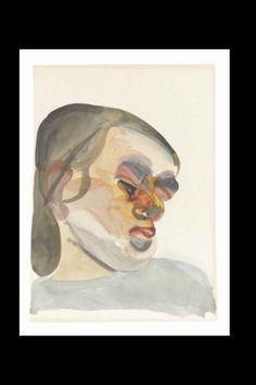 "Lucian Freud - ""Head of à child III"", 1961 - Watercolour on paper - 33,6 x 24,7 cm (*)"