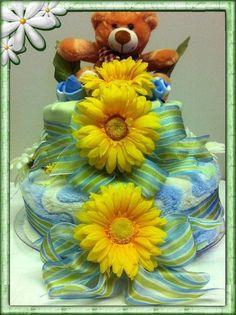 Baby Shower gift - Neutral Diaper Cake