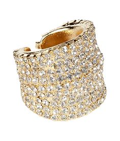 Golden Swarowskiy Crystals Ring