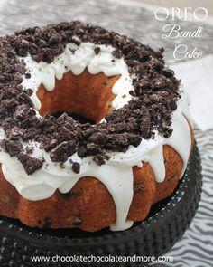 Oreo Cookies and Cream Bundt Cake-a fun cake that's easy to make!