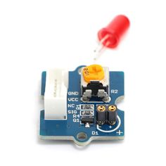 Seeedstudio Red LED Light Sensor Board Module - Blue. Grove - LED is designed for the beginners of Arduino/Seeeduino to monitor controls from digital ports. It can be mounted to the surface of your box or desk easily and used as pilot lamp for power or signal. Its brightness can be adjusted by potentiometer. Features: Grove compatible interface 3.3V/5V compatible Adjustable LED orientation Adjustable LED brightness. Tags: #Electrical #Tools #Arduino #SCM #Supplies #Boards #Shields