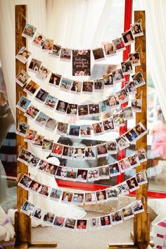 Polariod Photo Table Seating Plan Chart Relaxed Rustic DIY Barn Wedding http://www.wearethelous.com/