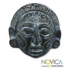 Ceramic 'Maya Night Voyage' Mask (El Salvador), $47.99.