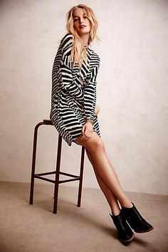 #Chevron #Stripe #Tunic #Dress #Anthropologie