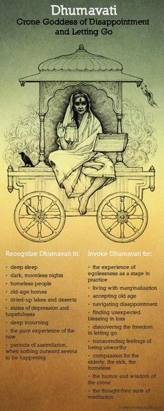 link to other posters too. Dhumavati, Crone Goddess of disappointment and letting go The Goddess Returns Wicca, Sacred Feminine, Feminine Energy, Divine Mother, Hindu Deities, Indian Gods, Book Of Shadows, Gods And Goddesses, Archetypes