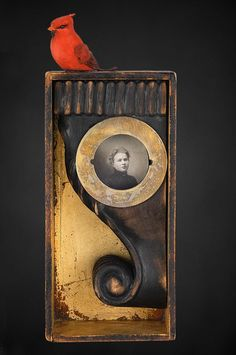 Mixed Media assemblage and collage art by Chicago artist Kass Copeland. Handmade boxes created from discarded, recycled furniture inspired by Joseph Cornell. Collages, Collage Art, Found Object Art, Found Art, Recycled Furniture, Recycled Art, Chicago Artists, To Infinity And Beyond, Assemblage Art