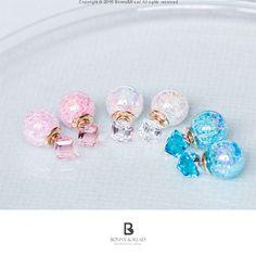 Bonny & Read 平價飾品 - 沁涼水晶泡泡耳環 / 3色